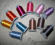 Multicolour embroidery thread