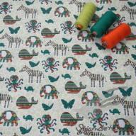 Hilco letní tkaná bavlna safari zelené po 1/2 metrech