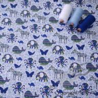 Hilco letní tkaná bavlna safari modré po 1/2 metrech