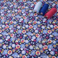 Hilco letní tkaná bavlna bublifuk modrý po 1/2 metrech
