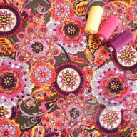 Košilový manšestr design exotické květy - po 1/2 metrech
