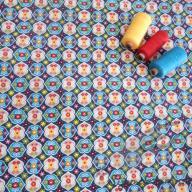 Košilový manšestr design Rosalie modrá - po 1/2 metrech