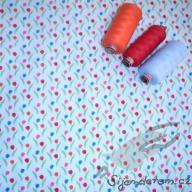 Košilový manšestr design tulipány - po 1/2 metrech
