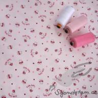 Košilový manšestr Hilco medvídci na růžové - po 1/2 metrech