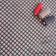 Košilový manšestr design mozaika hnědá - po 1/2 metrech