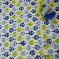 Hilco letní tkaná bavlna rybičky po 1/2 metrech
