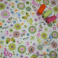 Hilco letní tkaná bavlna ptáčci, motýli, květy po 1/2 metrech