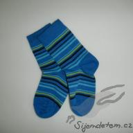 Ponožky biobavlněné dětské modrý tenký proužek