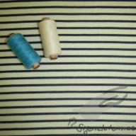 Vlněno-hedvábný jednolíc námořnický proužek