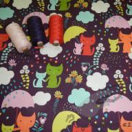 Hilco podčesaný kočičky v dešti fialové po 1/2 metrech