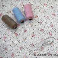 Košilový manšestr Hilco ptáčci růžoví - po 1/2 metrech