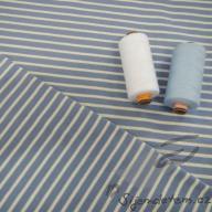 Hilco pruhovaný úplet Campan modro-bílý po 1/2 metrech