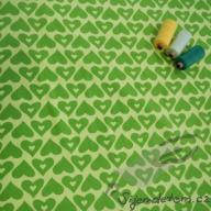 Hilco letní srdíčka zelená po 1/2 metrech