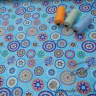 Hilco letní etnik modrý po 1/2 metrech