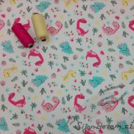 Wendy dino park růžový (oboulícní úplet)