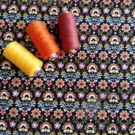 Košilový manšestr design moravská dekorace na černé - po 1/2 metrech