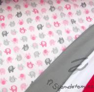 Wendy sloni na růžové (oboulícní úplet)