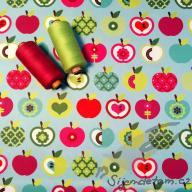 PUL standartní měkký (50x47cm)- jablíčka na tyrkysu