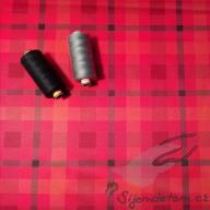 PUL standartní měkký (50x47cm)- káro červené