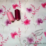 PUL standartní měkký (50x47cm)- květy akvarel