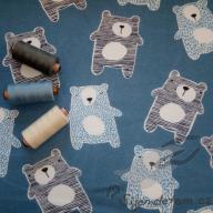 Wendy Velcí medvědi na džínové (oboulícní úplet)