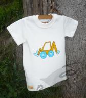 Biobavlněné tričko s krátkým rukávem malované