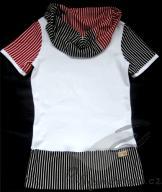Dámské triko černo-červený pruh
