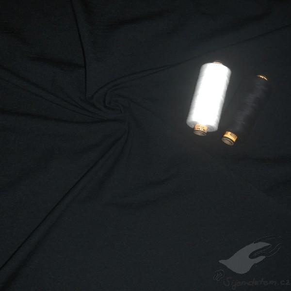 Wool-silk single jersey stretchy black 9b6208e50bc