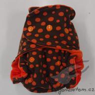 VÝPRODEJ Bambusová plenka megerka - oranžové puntíky s oranžovou