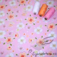 Hilco letní tkaná bavlna šípková růže po 1/2 metrech