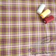 Tkaná bavlna Hilco káro hnědé - po 1/2 metrech
