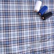 Tkaná bavlna Hilco káro modré - po 1/2 metrech
