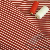 Hilco pruhovaný úplet Campan červeno-bílý po 1/2 metrech