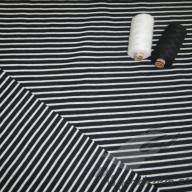 Hilco pruhovaný úplet Campan černo-bílý po 1/2 metrech