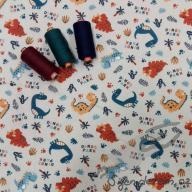 Wendy dino park modrý (oboulícní úplet)