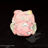 Jednovelikostní plenka Megerka - jednorožci růžoví