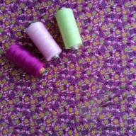 Košilový manšestr design drobné kytičky magenta - po 1/2 metrech