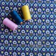 Košilový manšestr design moravská dekorace na modré - po 1/2 metrech