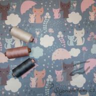 Hilco podčesaný kočičky v dešti šedé po 1/2 metrech