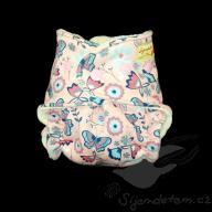 Bambusová plenka ŠD novorozenecká - růžová louka