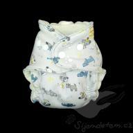 Bambusová plenka ŠD novorozenecká - wendy pejsci na šedé