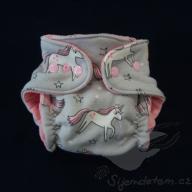 Bambusová plenka ŠD novorozenecká - wendy jednorožci na šedé