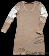 Biobavlněné šaty s rozparkem