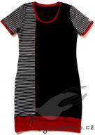 Šaty s červeným lemem
