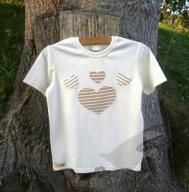 Biobavlněné tričko srdíčka