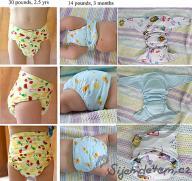 Pattern for a pocket diaper version I